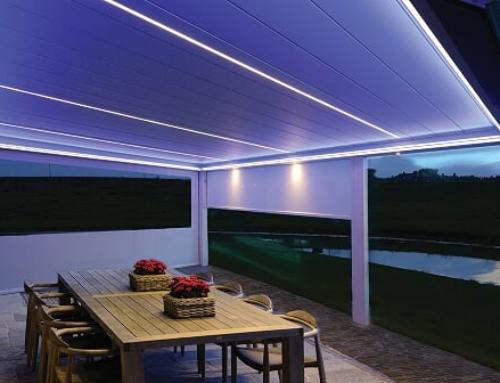 Lamellendach B200 mit Beleuchtung