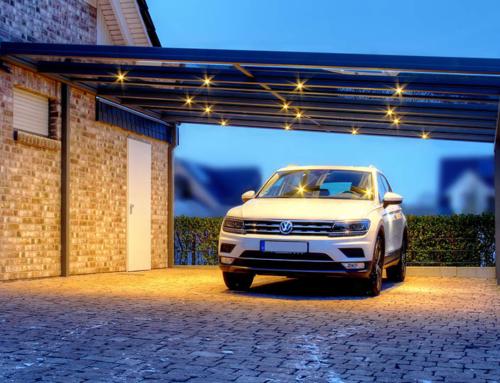 Carport mit Beleuchtung